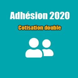 Adhésion 2020 - Cotisation double